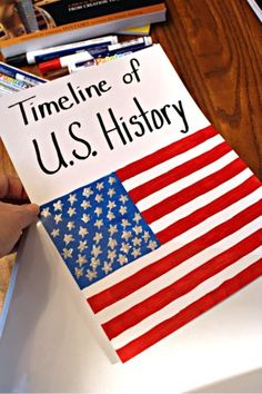 Creating a History Timeline Notebook using Elmer's Painters Markers. Fun and educational idea!