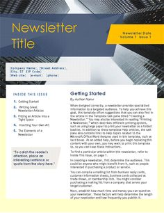 Tips writing company newsletter