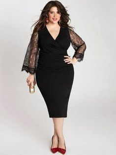 cutethickgirls.com plus size cocktail dresses with sleeves (07) #plussizedresses