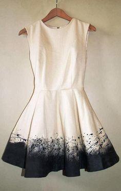 Cute sleeveless half white mini dress