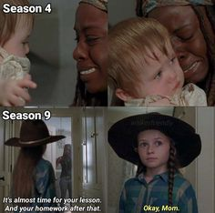 Michonne and Judith Walking Dead Show, Walking Dead Tv Series, The Walking Dead Tv, Judith Grimes, Carl Grimes, Amc Twd, Walking Dead Quotes, Avengers, Girl Meets World