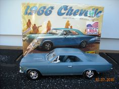 1966 #Chevrolet Chevy #Chevelle Super Sport SS 396 built 1/25 car model #Lindberg