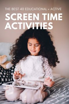 Screen time for kids you can actually feel GOOD about instead of feeling guilty! You'll avoid the negative effects of screen time, plus your child will actually learn something. From educational activities to creative projects and more, these screen time activities will keep your child busy so you can get stuff done. ***Includes FREE printable cheat sheet for parents listing the latest screen time guidelines by age. Creative Activities, Craft Activities For Kids, Infant Activities, Educational Activities, Learning Activities, Kids Crafts, School Paper Organization, Screen Time For Kids, Toddler Preschool