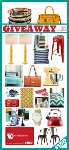 CLICK ON THE IMAGE and enter to Win $150 overstock.com GIFT CARD!!! Just in time for the Holidays at the36thavenue.com #giveaway #gifts