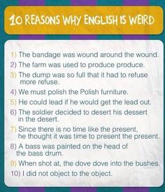 English - weird language
