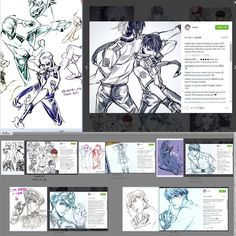 """I'm not """"pose material book""""... Am I mistaken? Because @vixaoi says """"I promise I never seen drawings"""" """"this is a coincidence"""". More my artworks and scanned sketches >> http://www.tetz-co.com"""