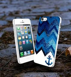 Blue Chevron Anchor Sparkly New Design L2n - iPhone 4/4s Case iPhone 5 Case New Design