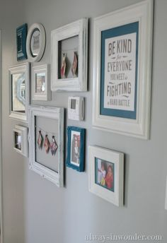 LOVE this collection of different frames for a gallery wall. by @Jennifer (alwaysinwonder)