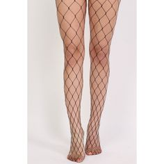 Pilot Oversized Net Diamond Shaped Fishnet Tights ($12) ❤ liked on Polyvore featuring intimates, hosiery, tights, fishnet, fishnet tights, net tights, fishnet pantyhose, fishnet hosiery and net stockings
