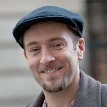 Derren is almost permanently attached to his structured cap. Love it. Such a good look on him.