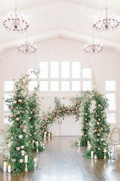 Whimsical rose garden wedding inspiration. Photo: @brittanyfrischphotography Pastel Wedding Colors, Garden Wedding Inspiration, Rustic Barn, Farms, Wedding Ceremony, Greenery, Whimsical, St Patrick, Pretty