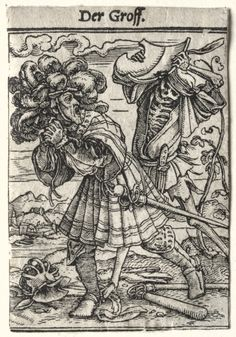 Dance of Death: The Earl, c. 1526 Hans Holbein the Younger (German, 1497/98-1543) woodcut, . Gift of The Print Club of Cleveland 1929.164
