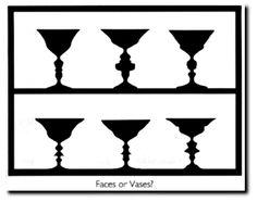 Cosa si vede? Volti umani oppure vasi?