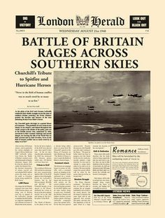 Battle Of Britain Art Print by London Herald - WorldGallery.co.uk