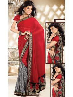 Prodigious Red & Off White Saree Item code : SNB1007  http://www.bharatplaza.com/new-arrivals/sarees/prodigious-red-off-white-saree-snb1007.html https://www.facebook.com/bharatplazaportal https://twitter.com/bharat_plaza