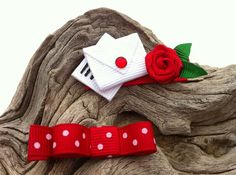 Letters from the Heart Valentine Ribbon Sculpture Set by patyg13, $5.50
