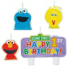 Sesame Street 1st Birthday  Molded Candle Set 4 *** Continue to the product at the image link.