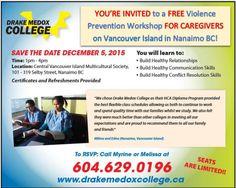 FREE VIOLENCE PREVENTION WORKSHOP #HealthCare #CommunitySupportWorker #Canada #HealthCareAssistant #PersonalSupportWorker #FreeWorkshop
