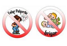 Imagens de Regrinhas de Conduta para as Crianças - Desenhos Para Colorir
