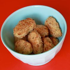 Thermomix Chicken Nuggets Going to try to make these with the Vitamix instead and then freeze and use for lunches.
