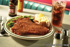 Norms 190 pound t bone steak our signature steak for over 60 years