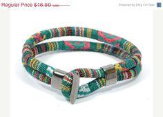 SALE ethnic bracelet for men  aztec bracelet  green by CozyDetailz