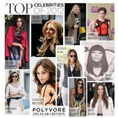 """""""Top Celebrities of 2012"""" by polyvore-editorial ❤ liked on Polyvore"""