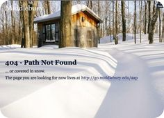page 404 lost in the snow