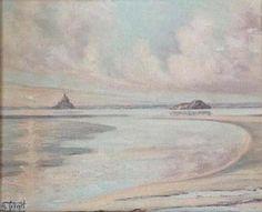 F. Forget - La baie du Mont Saint Michel Le Mont St Michel, Saint Michael, Saints, Forget, Painting, Art, St Michael, Art Background, San Miguel