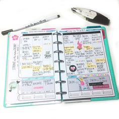 reflecting on past months' messy, well-loved MINI Fitness Planner pages by mambi Design Team member Chantal Kuaea   me & my BIG ideas