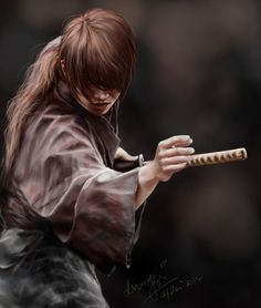 A tribute to one of my all time favorite anime!The lighting setup I used here. It is done to symbolized kenshin's constant struggle to fight his bitter past as Battosai (which his costume was...