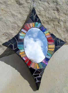 stain glass mirror starburst