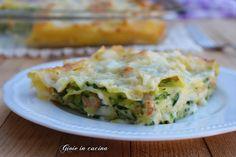 Lasagne con gamberetti e zucchine