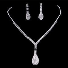 Dazzling Bridal Jewelry Set Alloy Rhinestone Necklace Earrings Sets For Wedding Bridal Accessories Women Diamond Rings Big Brides From Janet521, $3.22| Dhgate.Com