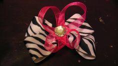 Zebra Inspired Bow by AmalieBowtique on Etsy, $3.99