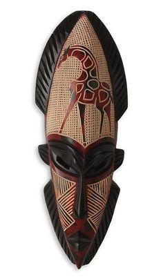 Set Of 2 Large Gambian Man & Woman Masks Africa Imports