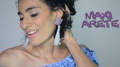 Como Hacer Aretes de Bisutería | Maxi Arete con Borlas | DIY Reciclado  ...