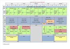 Emploi du temps gs cp ce1 Cycle 2, Periodic Table, Diagram, Teaching, Officiel, Multiplication, Montessori, Names, Letter Recognition