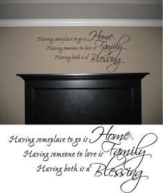 Home Family Blessing Wall Quote Decor Decal. $16.99, via Etsy.