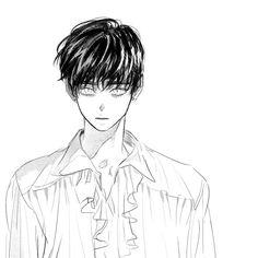 Boy Sketch, Anime Sketch, Arte Horror, Korean Art, Guy Drawing, Hot Anime Guys, Tsundere, Character Design Inspiration, Cute Art