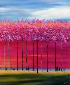 #Fall #ArtInspiration from Mary Johnston. We love how she uses her paintbrush to create a feeling of peace and sense of place.