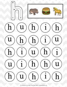 Lowercase Do A Dot Alphabet Printables - That Bald Chick®