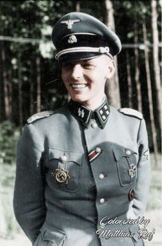 SS-Sturmbannführer Hans Joachim 'Hajo' Freiherr von Hadeln (6 March 1910 - 12 January 1943) who was killed by a Russian sniper while doing an inspection on the front near Orlowsky (Rostov)