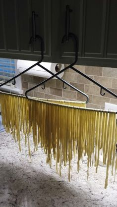 Home made pasta drying rack