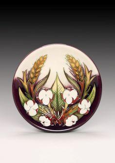 Moorcroft Pottery Cotton, Jate and Wheat Designer Nicola Slaney