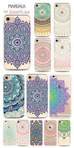 US 3.99 Mandala Soft TPU Phone Cases For iphone 7 Plus 6 6s 5 Creative  Mobile 6e0eed82ea4