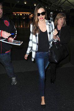 Miranda Kerr in 3.1 Phillip Lim Top with Céline Tote - Best Miranda Kerr Street Style - Harper's BAZAAR