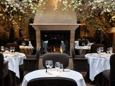 CLOS MAGGIORE • London, ENGLAND, Covent Garden •  Updated French Cuisine • Voted the most romantic restaurant in London, it has an elegant candlelit dining room with a fireplace and flowering greenery • 44 (0) 20-7379-9696 • www.closmaggiore.com