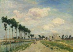 Johan Barthold Jongkind - Le chemin de halage (1874)