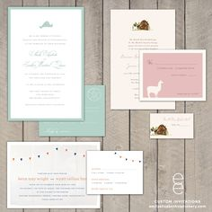 Martha's Vineyard Wedding Invitations...top left except in muted purple or greyish blue